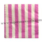 Paper Napkins Hot Pink Striped 300pcs