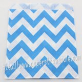 Blue Wide Chevron Paper Favor Bags 400pcs