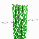 Christmas Tree Kelly Green Paper Straws 500pcs