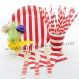 168 pieces/lot Red Striped Christmas Tableware Set