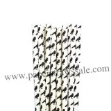 Black Crow Printed Halloween Paper Straws 500pcs