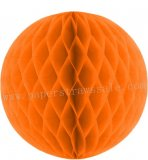 Orange Tissue Paper Honeycomb Balls 20pcs