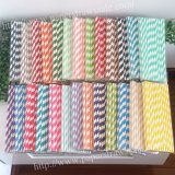 Classic Striped Paper Straws 2600pcs Mixed 26 Colors