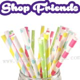 175pcs Shop Friends Party Paper Straws Mixed