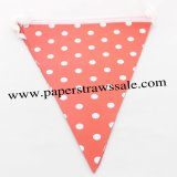 Red Polka Dot Party Bunting Flags 20 Strings