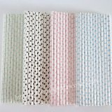 Small Polka Dot Paper Straws 1200pcs Mixed 4 Colors