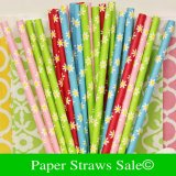 New Daisy Paper Straws 1200pcs Mixed 4 Colors