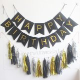 Happy Birthday Black Party Decoration Set
