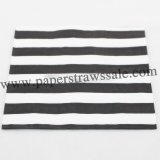 Black Paper Napkins Stripe Print 300pcs