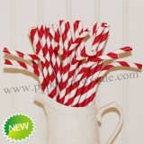 Red Striped Bendy Paper Straws 500pcs