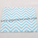 Light Blue Chevron Paper Napkins 300pcs