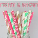 250pcs Twist & Shout Themed Paper Straws Mixed