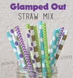 200pcs Glamped Out Theme Paper Straws Mixed