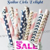 250pcs SAILOR GIRLS DELIGHT Theme Paper Straws Mixed