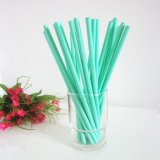 Paper Drinking Straws with Aquamarine Color 500pcs