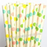 Colorful Polka Dot Paper Drinking Straws 1000pcs