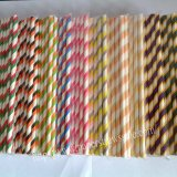 2 Colored Striped Paper Straws 2000pcs Mixed 10 Colors