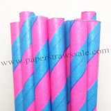 Pink Blue Striped Easter Paper Straws 500pcs