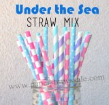 200pcs Under the Sea Theme Paper Straws Mixed