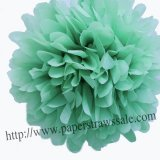 "8"" and 14"" Mint Paper Pom Pom Tissue 20pcs"