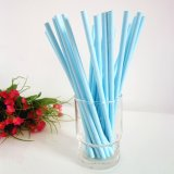 Solid Color Light Sky Blue Paper Straws 500pcs