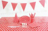 Red Christmas Party Tableware Set for 20 People