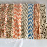 New Paper Drinking Straws 1400pcs Mixed 7 Colors