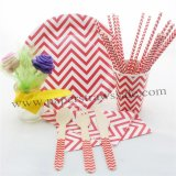 168 pieces/lot Red Chevron Christmas Tableware Set