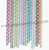 Damask Paper Straws 1700pcs Mixed 17 Colors