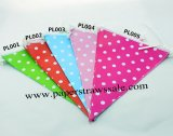 50 Strings Polka Dot Party Bunting Flags Mixed 5 Colors