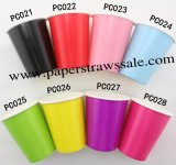 480pcs 90Z Plain Paper Drinking Cups Mixed 8 Colors