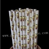 Baby Boy Kids Doll Print Paper Straws 500pcs
