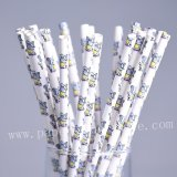 Cute Doll Toy Little Elephant Paper Straws 500pcs