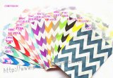 1400pcs Mixed 14 Colors Wide Chevron Paper Bags