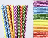 300pcs Rainbow Chevron Paper Straws Mixed