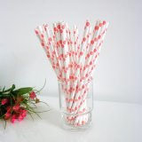 Paper Straws with Blush Pink Polka Dot 500pcs