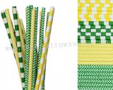 200pcs Saint Patrick's Day Party Paper Straws Mixed