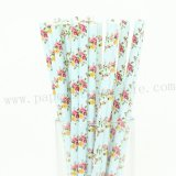 French Romantic Flower Paper Straws 500pcs