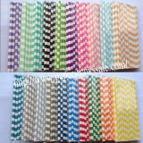 Circle Sailor Stripe Paper Straws 2000pcs Mixed 20 Colors