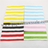 2400pcs Mixed 6 Colors Striped Paper Napkins