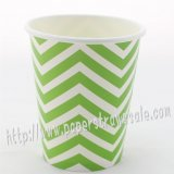 90Z Green Chevron Paper Drinking Cups 120pcs