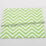 Green Chevron Printed Paper Napkins 300pcs