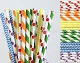 300pcs Rainbow Themed Party Paper Straws Mixed