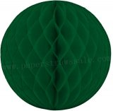 Dark Green Tissue Paper Honeycomb Balls 20pcs