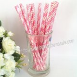 EAT DRINK BE MERRY Hot Pink Paper Straws 500pcs