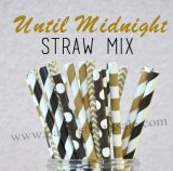 250pcs Until Midnight Theme Paper Straws Mixed