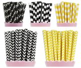 250pcs Construction Party Paper Straws Mixed