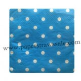 Paper Napkins Blue Polka Dot 300pcs