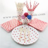 193 pieces/lot Christmas Dinnerware Set Red Polka Dot
