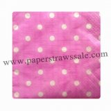 Paper Napkins Hot Pink Polka Dot 300pcs